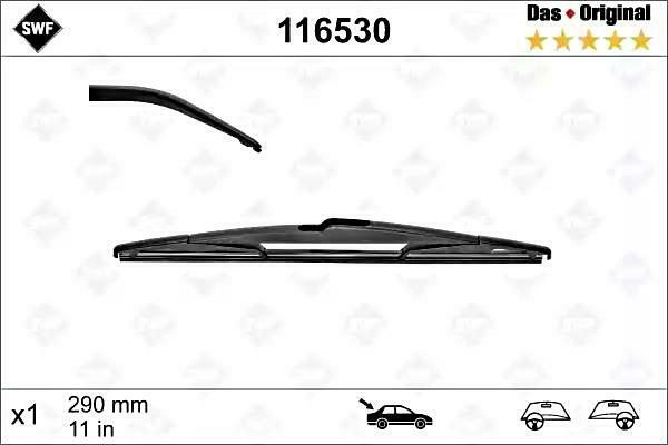 REAR WINDSCREEN WIPER BLADE FOR FORD KA PEUGEOT 2008 407