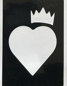 5 Princess Heart Side Crown Stencils Top Up Ur Glitter Tattoo Kit