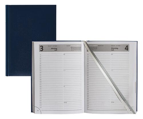 Buchkalender 2020 A5 Chefplaner Idena Kalender blau 1Tag-1Seite  Sa//So = 1 Seite
