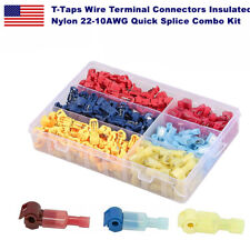 300pcs T Taps Wire Terminal Connectors Insulated 22 10awg Quick Splice Combo Kit