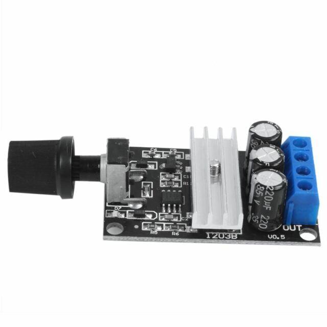 PWM DC Motor Speed Controller Module Switch Control for 6V 12V 24V 28V 3A W7Y1