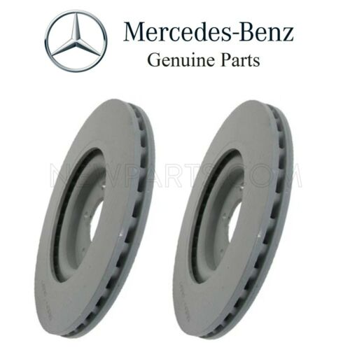 For Mercedes W209 CLK500 Pair Set of 2 Front Disc Brake Rotors Vented 345 X 30mm