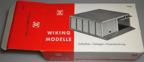114s CASA GARAGE doppio confezione WIKING scatola vuota Å *
