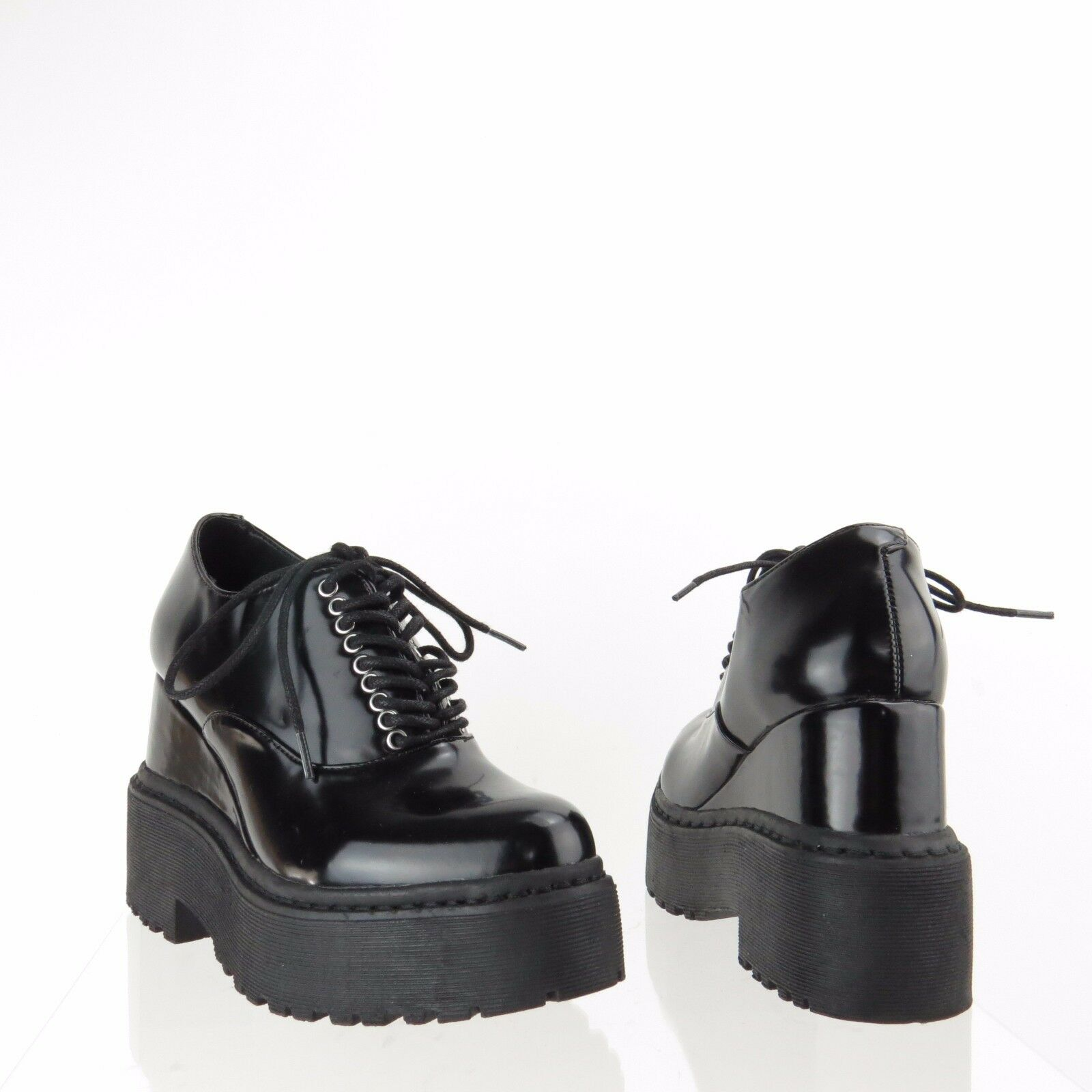risposta prima volta Donna  Jeffrey Campbell Anola scarpe nero Leather avvioies avvioies avvioies Dimensione 5.5 M NEW   protezione post-vendita