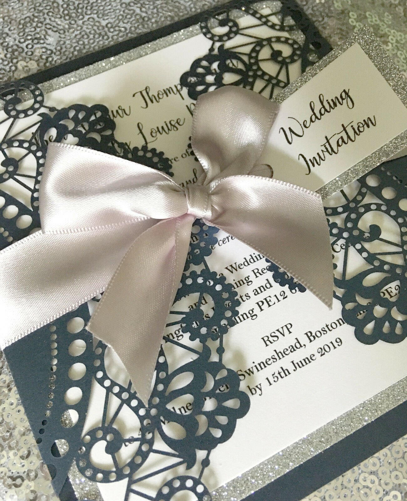 Stunning laser cut invitations  Wedding x 25 Fully personalised