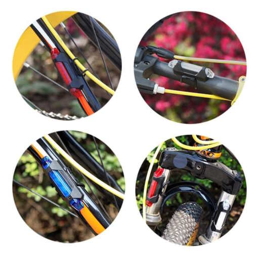 RECHARGEABLE Micro USB flash LED Bicycle Bike Frame Waterproof Head Tail Light