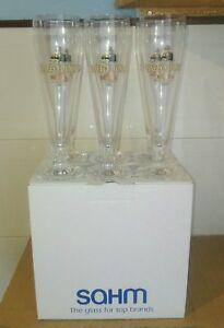 Set Scatola di 6 Bicchieri Calici Pubblicitari Birra Moretti Baffo D'oro Italia
