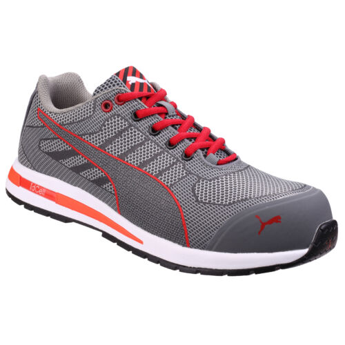 Puma Xelerate Knit Low Safety Trainer Grey//Red Size 9