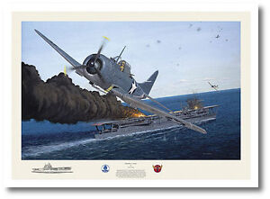 "Dauntless Courage by David Gray - SBD Dauntless- Signed by pilot ""Dusty"" Kleiss"