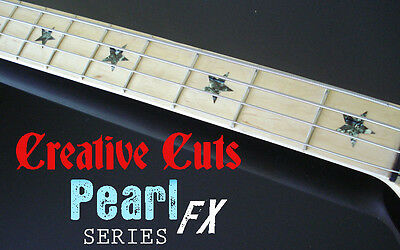 Stars BLACK PEARL Fretboard Markers Inlay Star Stickers Decals for Fender P BASS