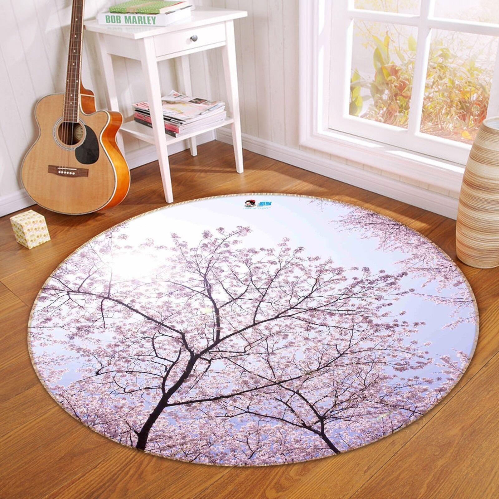 3d árbol Sakura 24 antideslizante alfombra de maletero rondas elegante alfombra de