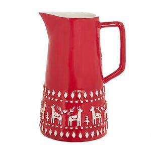 New Raz Red Ceramic Scandinavian Nordic Pitcher 4009879