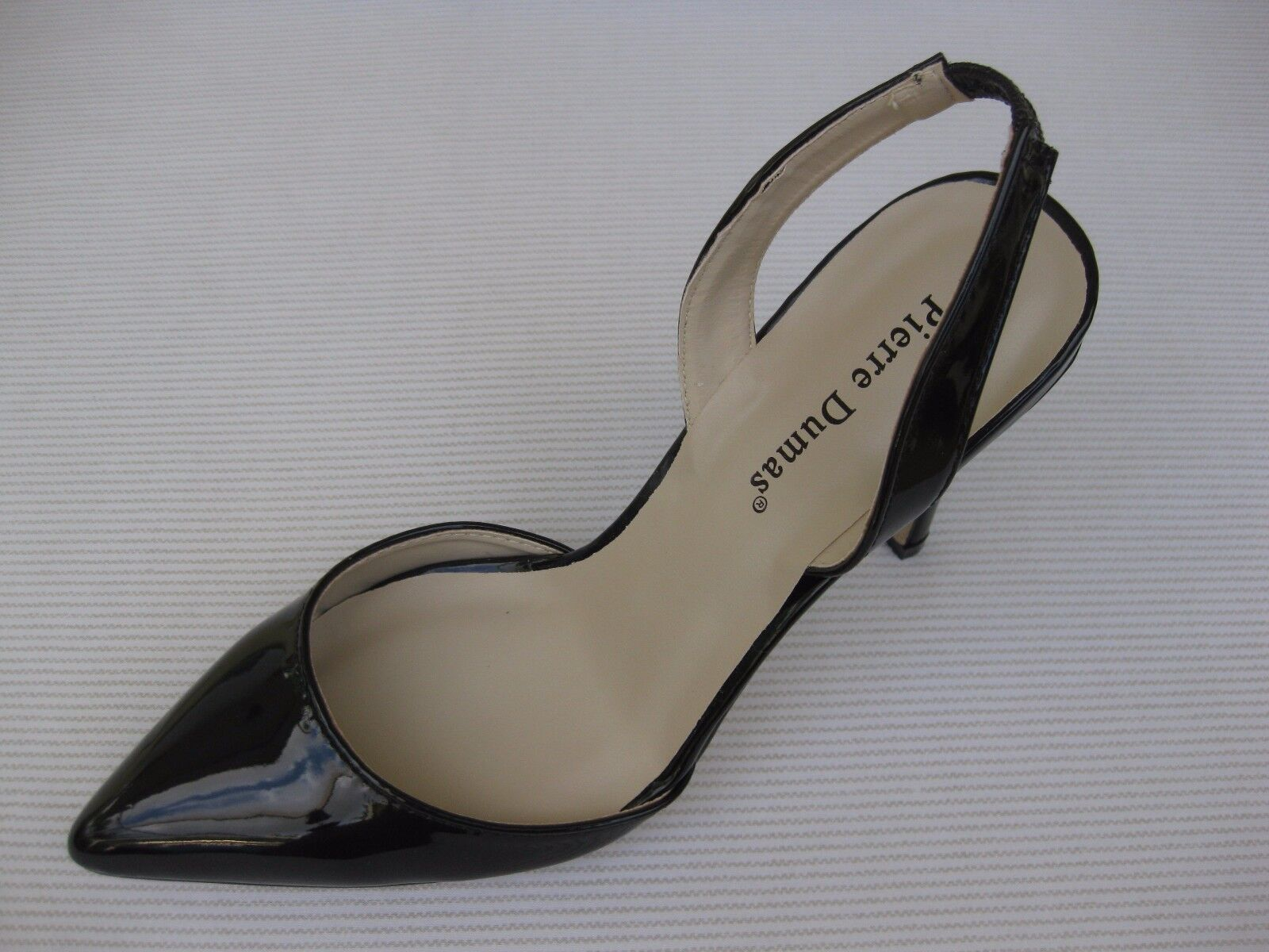 Pierre Dumas Womens Black Shoes NEW $52 Cherry-4 Black Womens Patent D'Orsay Sling 9 M 61ed17