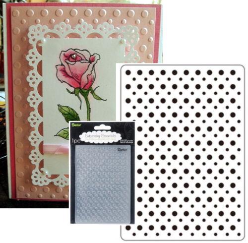 Polka Dots Embossing Folder Darice Craft Folders Cuttlebug Compatible 1215-59