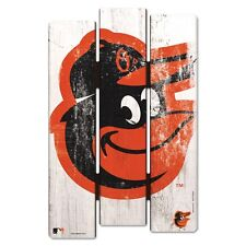 """BALTIMORE ORIOLES FENCE WOOD SIGN 11""""X17'' BRAND NEW FREE SHIPPING WINCRAFT"""