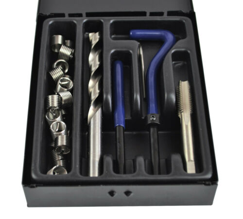 """Helicoil Kit 3//8/"""" 16 imperial thread repair stainless steel helicoil."""
