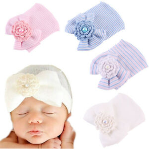 517006c6084 Image is loading Sweet-Newborn-Baby-Infant-Girl-Bowknot-Pearl-Hospital-