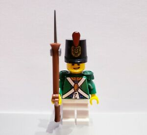 Lego-PIRATES-Imperial-Guard-REDCOAT-Soldier-MINIFIG-Green-VERSION