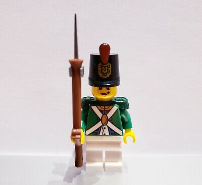 Lego PIRATE Imperial Guard REDCOAT Soldiers MINIFIGS Musket Bayonet NEW