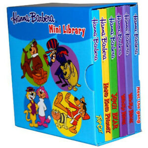 Hanna-Barbera-Pocket-Library-6-Board-Books-Slipcase-Collection-Set-NEW