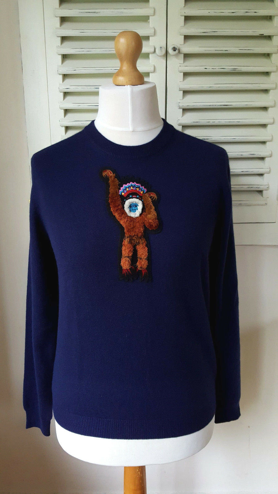 Paul Smith donna donna donna MAIN LINE 100% CASHMERE Scimmia Intorno Al Collo Jumper maglione (S) 2f6ecf