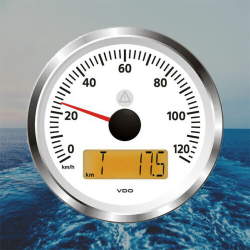 """VDO Viewline Speedo Speedometer LCD 3/"""" 60 km//h White A2C59512381"""
