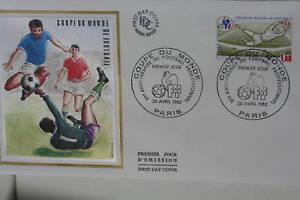 ENVELOPPE-PREMIER-JOUR-SOIE-1982-COUPE-MONDE-FOOTBALL