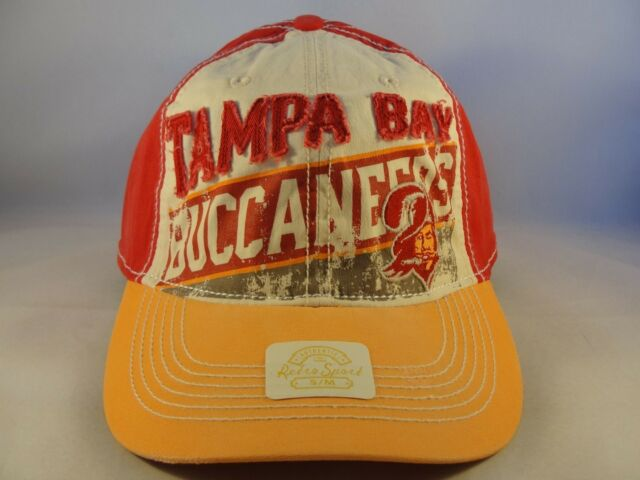 Tampa Bay Buccaneers NFL Reebok Retro Sport Weathered Flex Slouch Hat Size  S m  08f6a1a5d