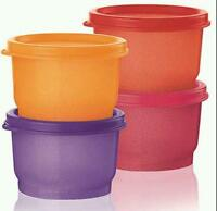 Tupperware Be Dazzled Collection Snack Cup Container Set 4