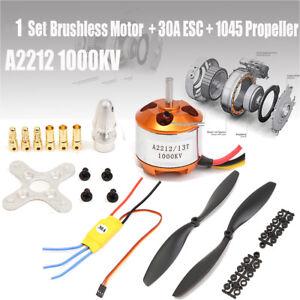Set A2212 1000KV Motor 30A Brushless ESC 1045 Propeller For DJI F450 550  e