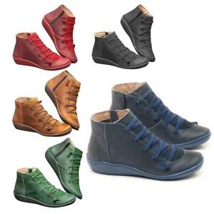 uk women's winter arch support ankle boots ladies lace up