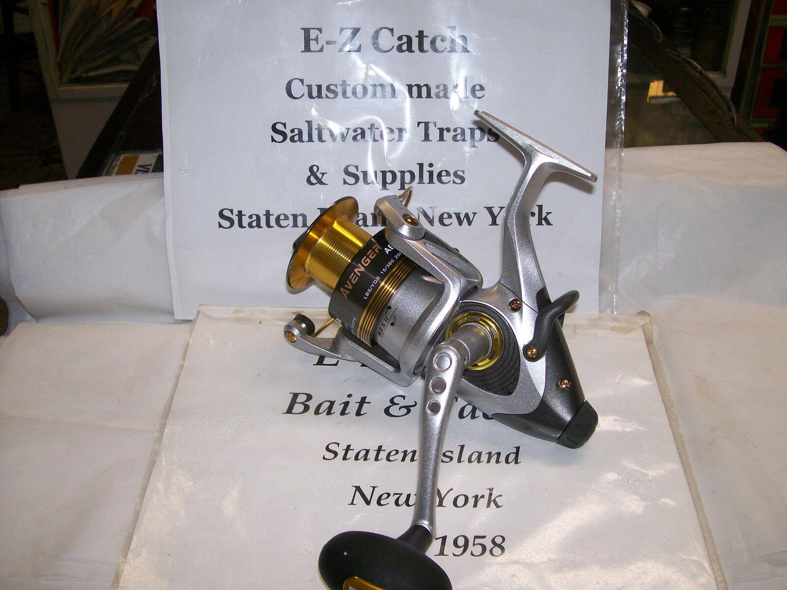 Okuma Avenger 65 Baitfeeder Spinning Reel ABF-65b Salt & Freshwater Fishing NEW