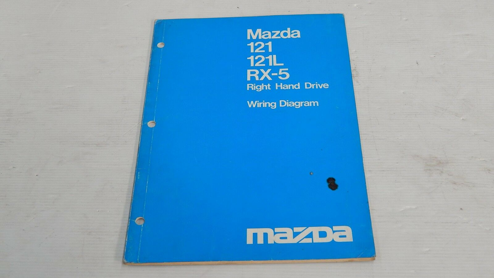Remarkable Mazda 121 121L Rx5 Right Hand Drive Wiring Diagram Book Original Wiring Digital Resources Jebrpcompassionincorg