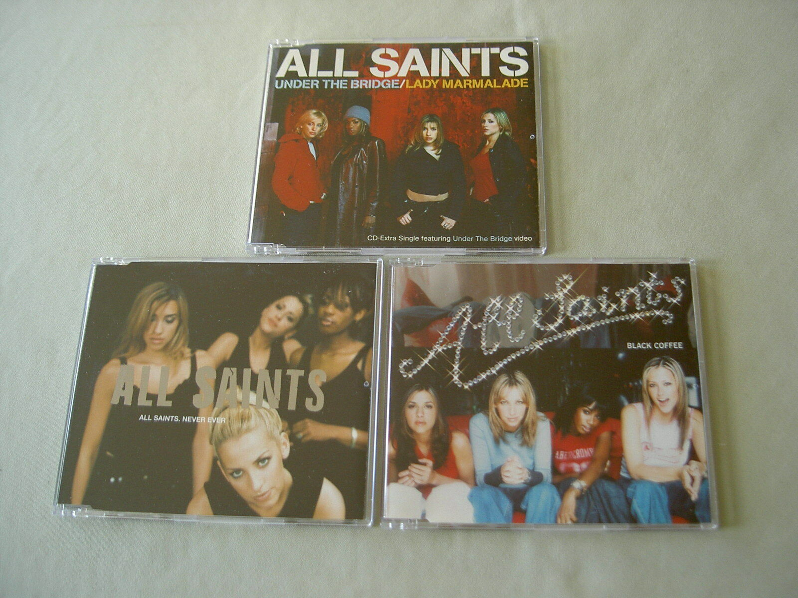 All Saints Job Lot Of 3 Cd Singles Under The Bridgelady Marmalade Never Ever