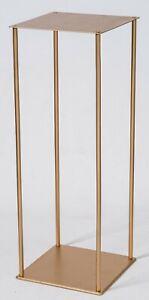 70 cm en métal doré fleur Stand Piédestal pièce maîtresse mariage trompette ou Rectangle