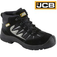 MENS JCB LEATHER WATERPROOF SAFETY WORK BOOTS STEEL TOE CAP TRAINERS SHOES SIZE