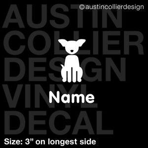 3-034-PERSONALIZED-FAMILY-CHIHUAHUA-DOG-vinyl-decal-car-window-sticker-custom