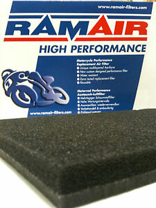 2x-RAMAIR-Air-Filter-Foam-Pad-Large-Scooter-Motorcycle-Quad