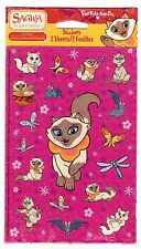 NEW pack SAGWA the Chinese Siamese Cat Scrapbook Stickers! 2 Sheets!