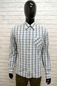 Camicia-LEVIS-Uomo-Taglia-Size-L-Maglia-Chemise-Shirt-Quadretti-Cotone-Classic