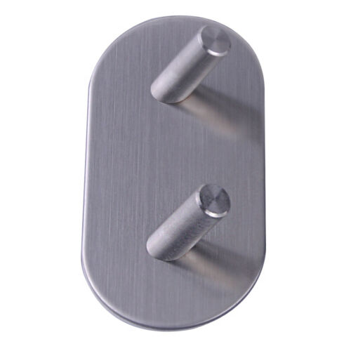 Stainless Steel Self Adhesive Stick Sticky On Door Wall Peg Hanger Holder Hook