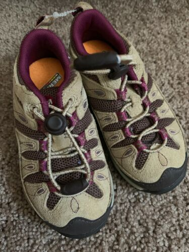 Merrill Hiking Shoes Girls Size 8