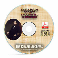 The Treasury of David, Charles C H Spurgeon, Bible Commentary Psalms PDF CD F32