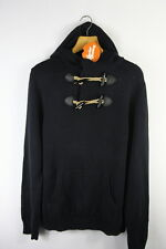 Mens GAP Jumper Large MILITARY Cable Knit CHUNKY Hooded Sweater EXCELLENT P34