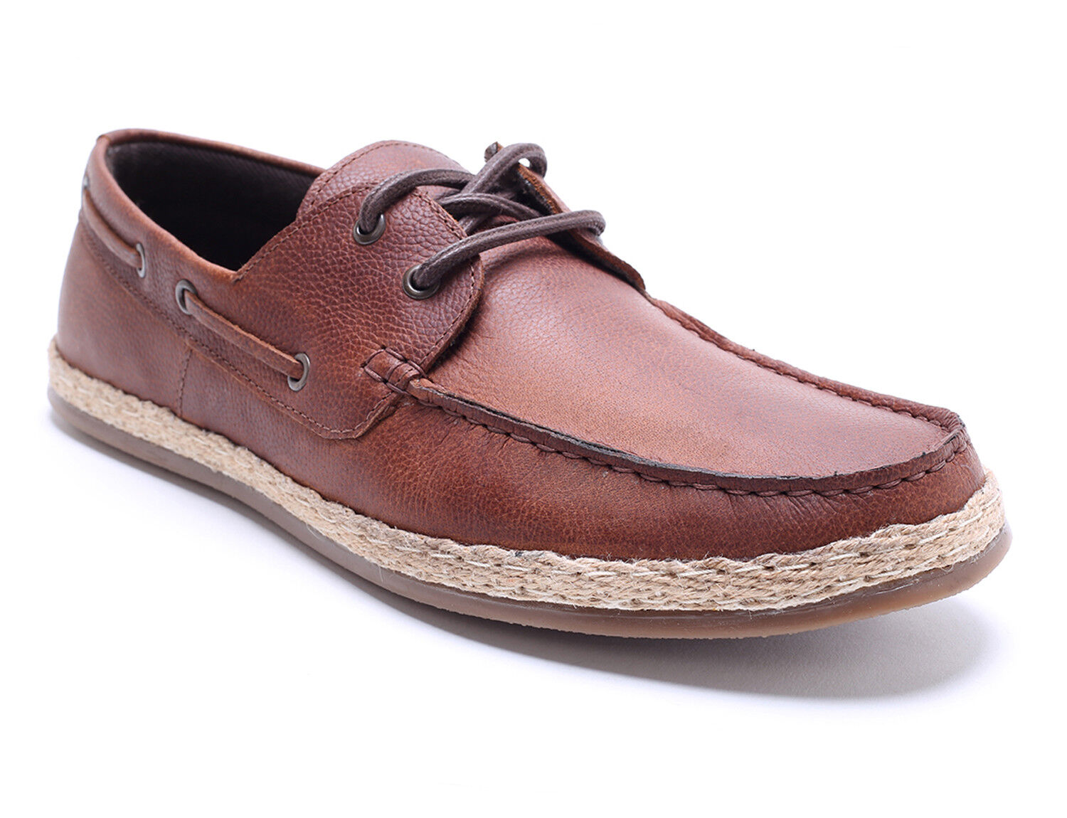 Red Tape Ruskin Tan Leather Mens Casual Boat shoes Free UK P&P