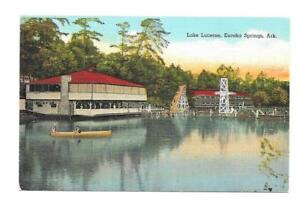 Lake Lucerne, Eureka Springs, Arkansas Vintage Linen ...