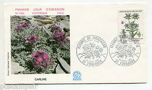 FRANCE-FDC-1-jour-1983-timbre-2266-FLEURS-CARLINE-FLORE