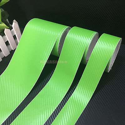 Multi-function Silver 3D Texture Carbon Fiber Vinyl Tape Wrap Film Sticker CF