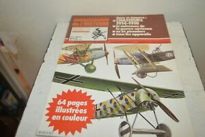 Knowledge-Of-Histoire-Magazine-Aircraft-Chasseur-14-18-Sketch-N-33-Axe-1981