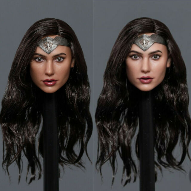 1//6 Gal Gadot Customized Head Sculpt for Hottoys Phicen Female Body Wonder Woman